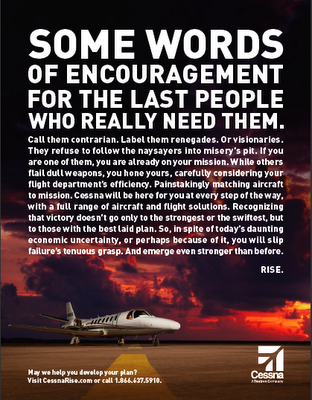 Cessna Ad Words of Encouragement